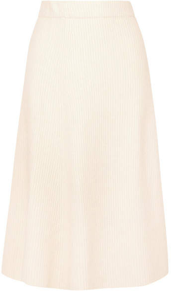 Maje Jessy Ribbed-knit Midi Skirt