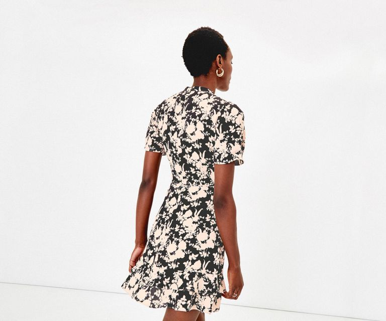 Oasis SHADOW FLORAL DRESS back view