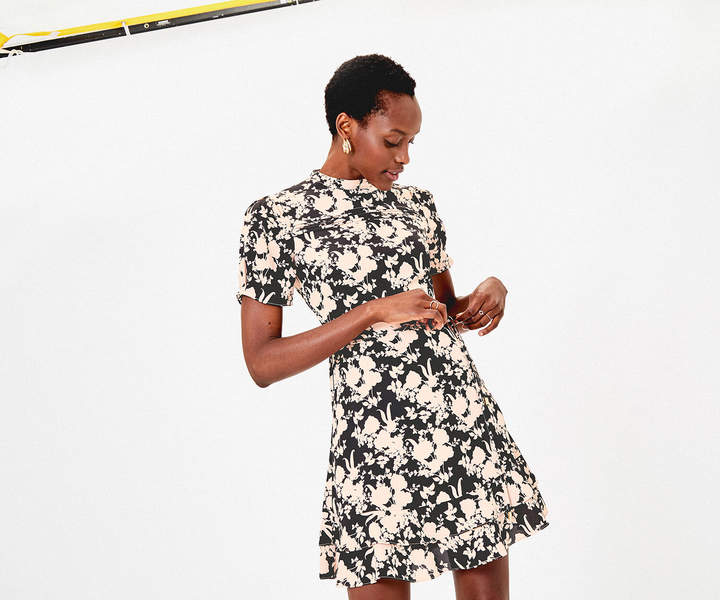 Oasis SHADOW FLORAL DRESS