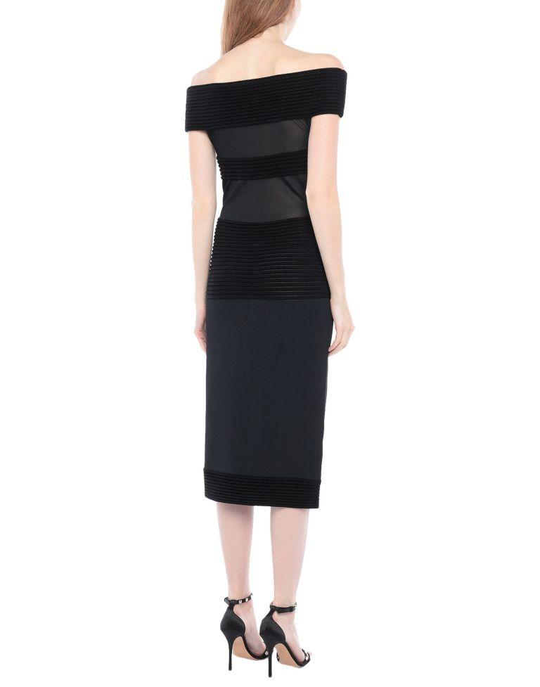 Roland Mouret Black Velvet Dress back view