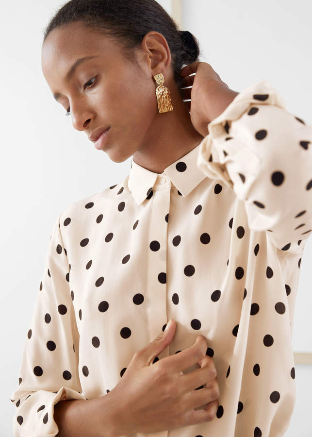 And other stories Polka Dot Silk Shirt