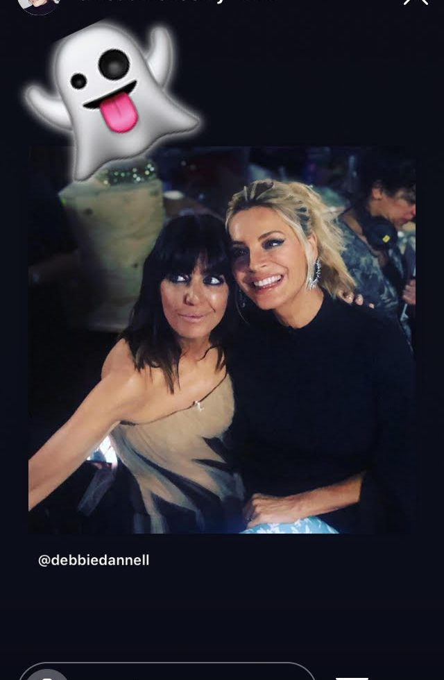 Claudia winkleman pink and black tulle dress Strictly Halloween October 2019 Photo Sinead McKeefry
