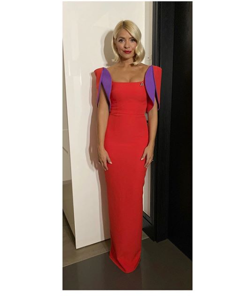 Holly Willoughby red and purple gown Pride of Britain 2019 Photo Holly Willoughby