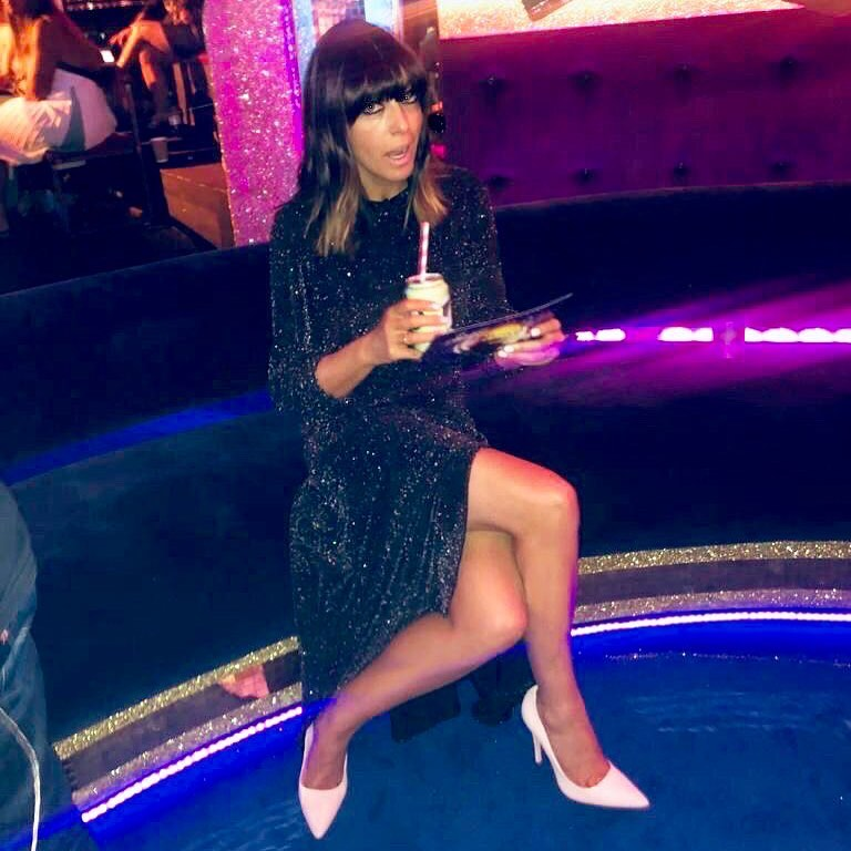 how to find claudia winkleman sparkle glitter black metallic dress Strictly Come Dancing October 2019 Photo Sinead McKeefy