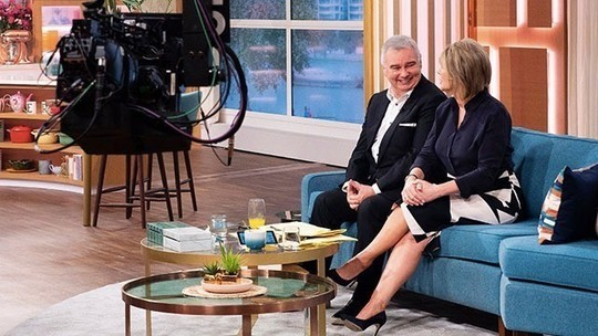 how to find Ruth Langsford black and white skirt black blouse This Morning October 2019 Photo ITV com