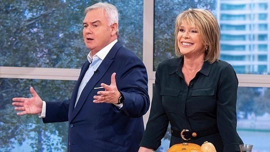 How to find Ruth Langsford green shirt dress This Morning today October 2019 Photo ITV com