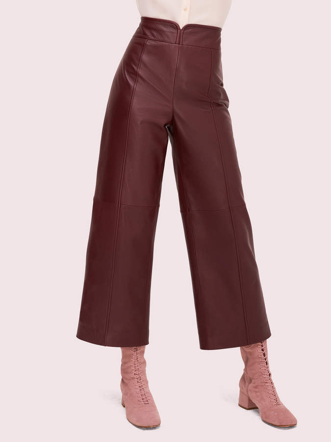 Kate Spade cropped leather pant