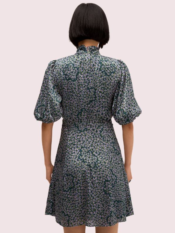Kate Spade Flair Flora Devore Mini Dress back view