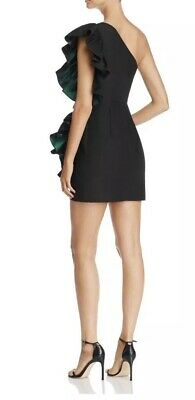 Kemila One-Shoulder Ruffled Mini Dress back view