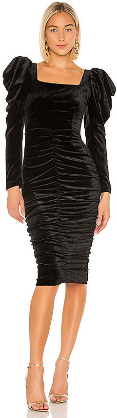 lORANE Velvet Midi Dress