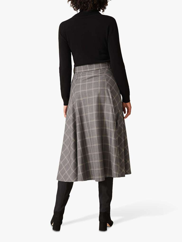 Phase Eight Check A-Line Skirt back view