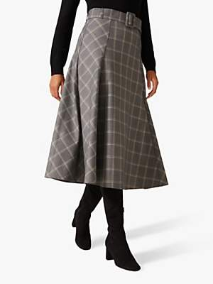 Phase Eight Check A-Line Skirt