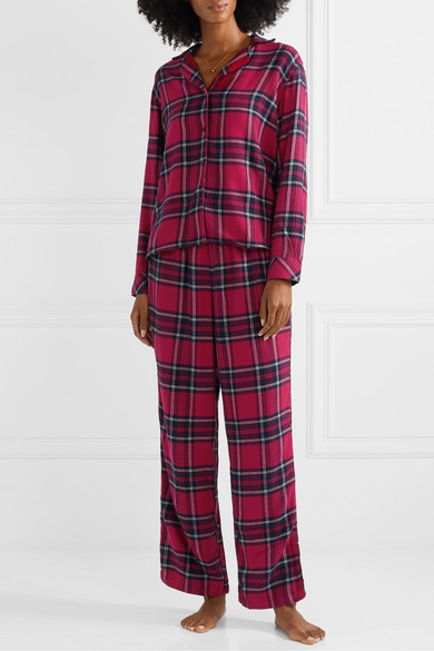 Rails Red Checked Flannel Pajama Set
