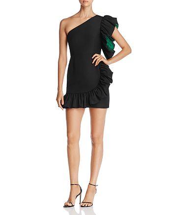 Sandro Kemila One-Shoulder Ruffled Mini Dress