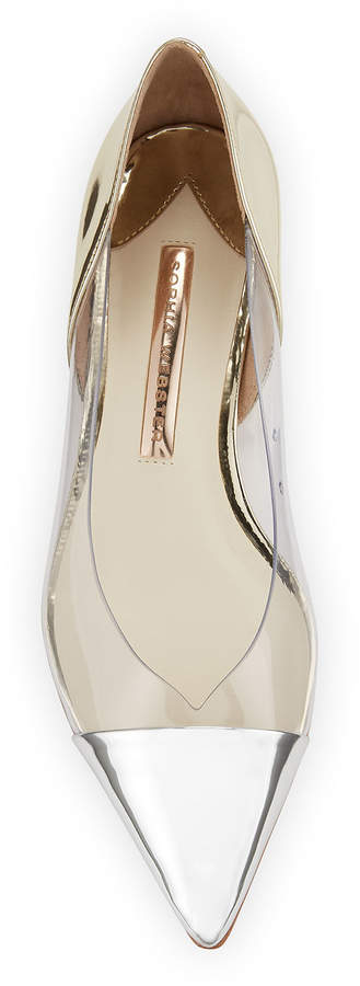 Sophia Webster Daria 80 Leather And Perspex Pumps