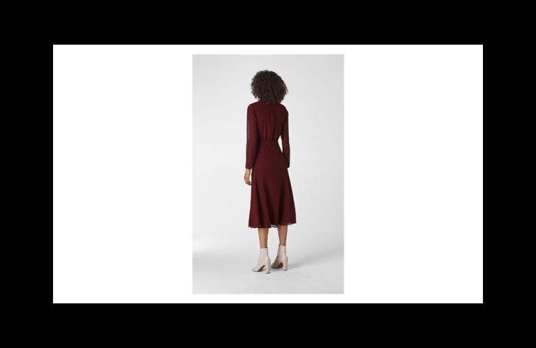Whistles Carys Midi Shirt Dress back view