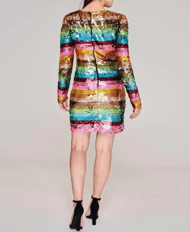 Biba Rainbow SequinD Ld94 dress back view