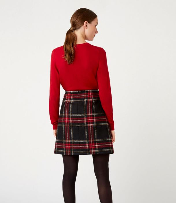 Hobbs Elea Wool Skirt back view