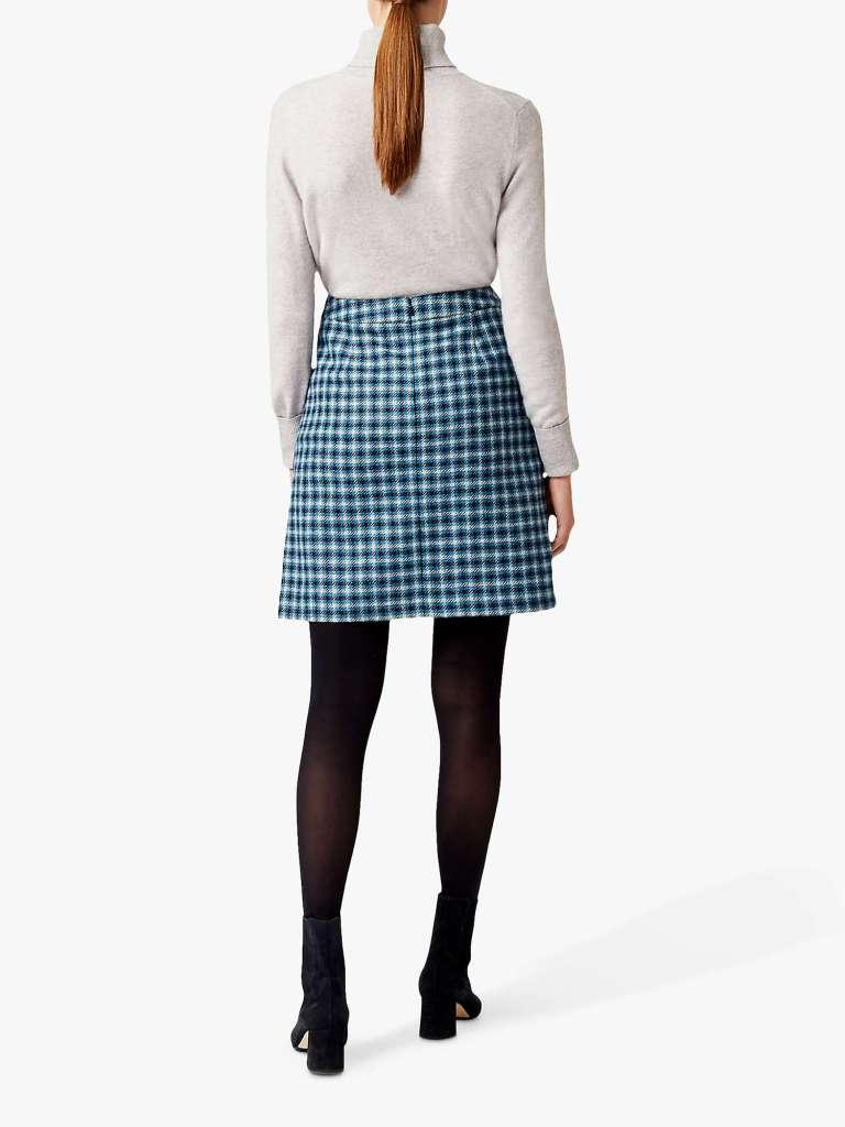 Hobbs Elodie Wool Skirt back view