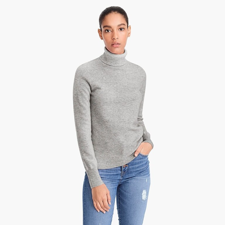 J Crew Everyday cashmere turtleneck sweater