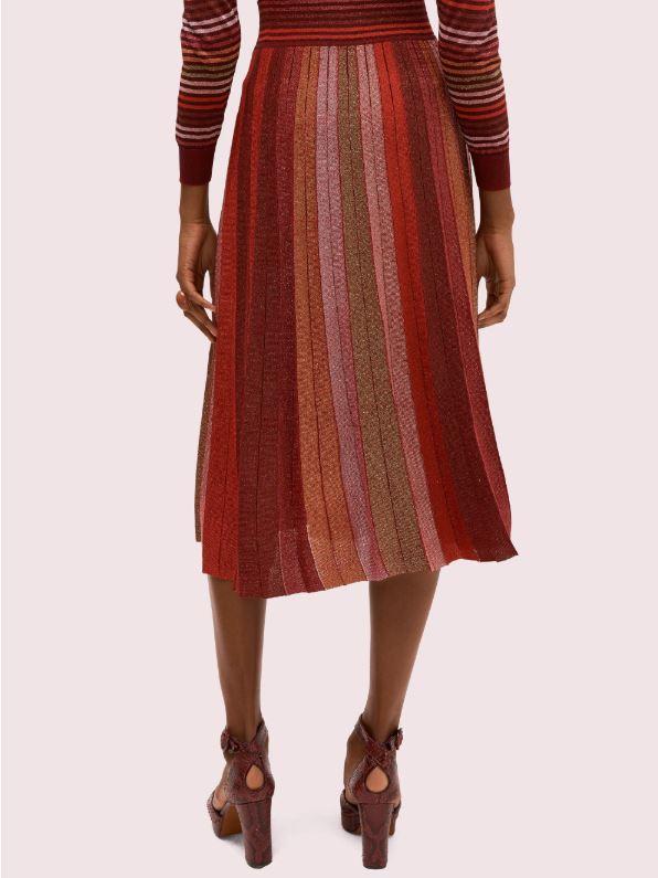 Kate spade metallic stripe knit skirt back view