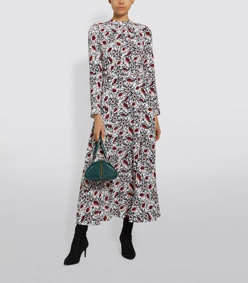 Markus Lupfer Winterbloom Floral Dress
