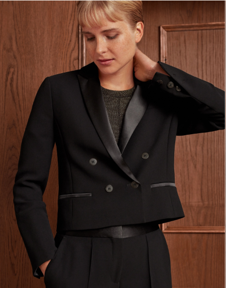 Me and Em Luxe Cropped Jacket