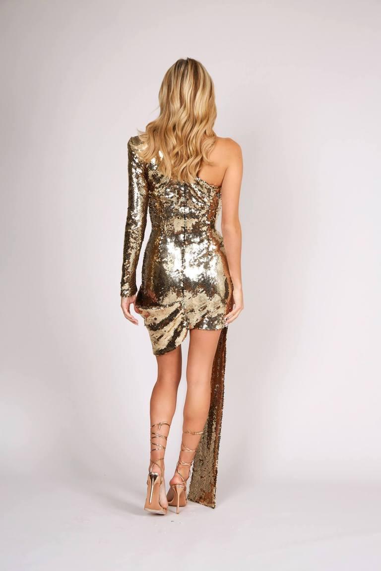 Nadine Merabi Celine dress back view