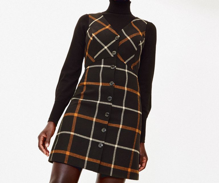 Oasis Check Shift Dress