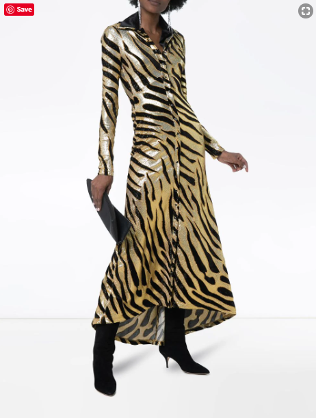 Paco Rabanne Metallic Tiger dress