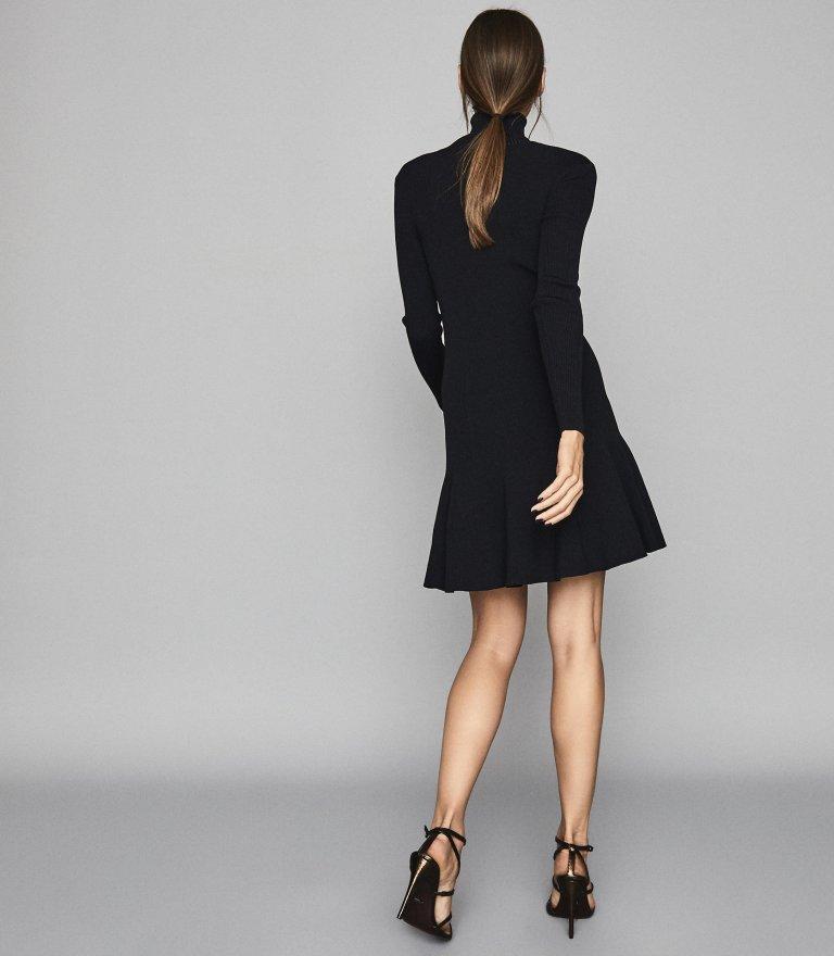Reiss Mimi Knitted Flippy Hem Dress back view