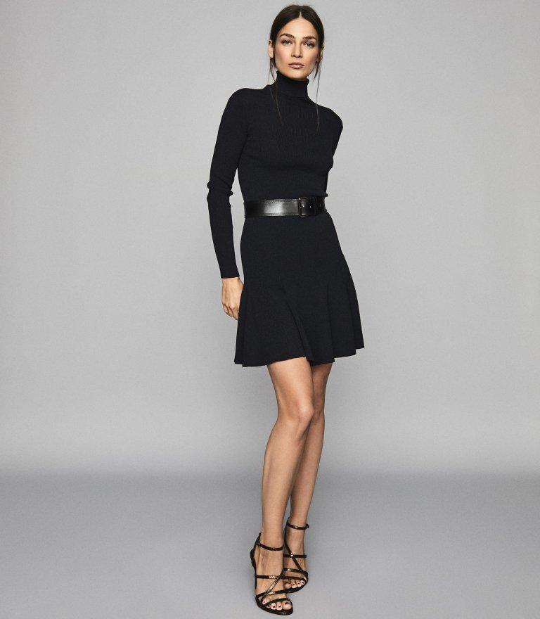 Reiss Mimi Knitted Flippy Hem Dress