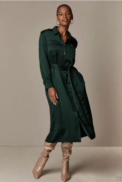 Wallis Green Utility Shirt Dress