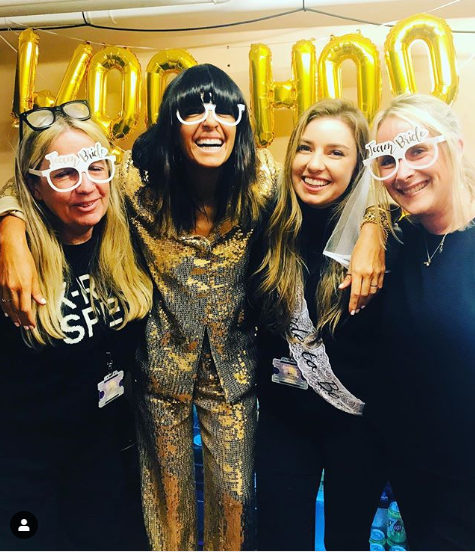 where to get Claudia Winkleman gold sequin trouser suit Strictly 16 November 2019 photo Claudia Winkleman