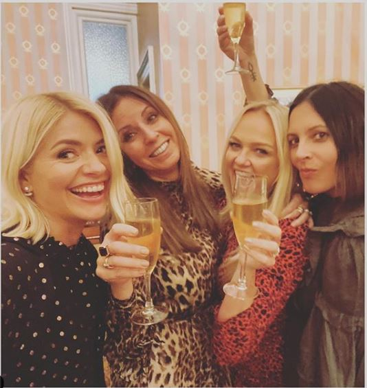 where to get Holly Willoughby black and gold spot shirt Mamma Mia Musical 28 November 2019 Photo Holly Willoughby
