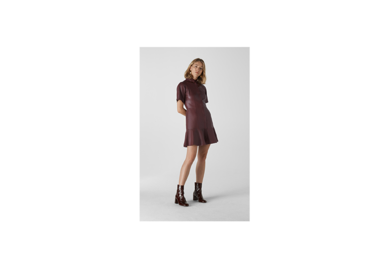Whistles Leather Mini Dress