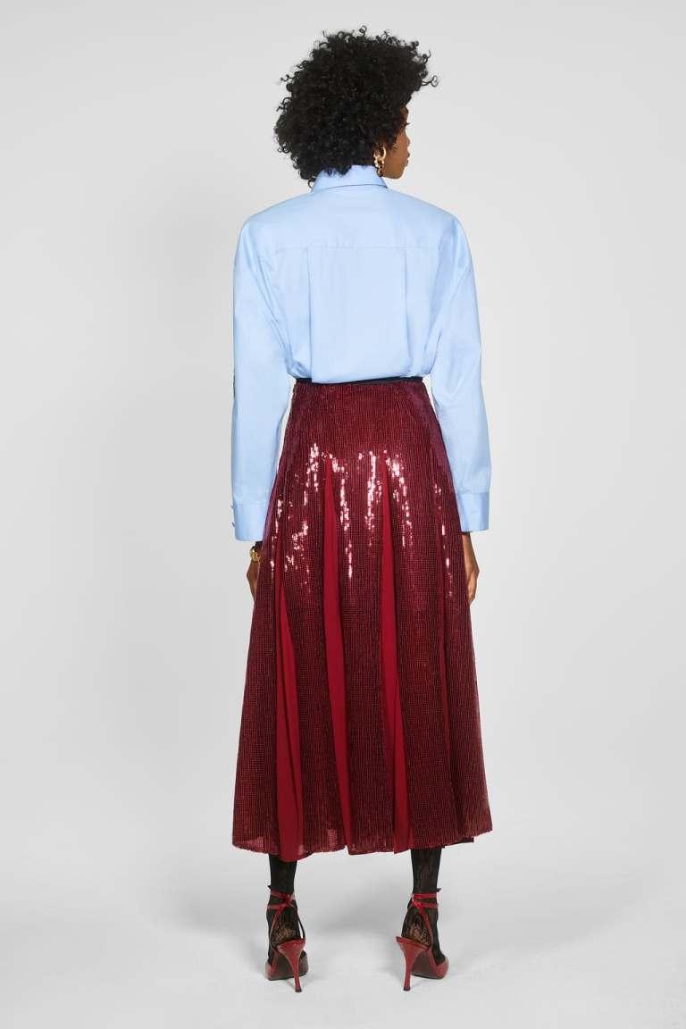 Zara Sequinned Skirt back view