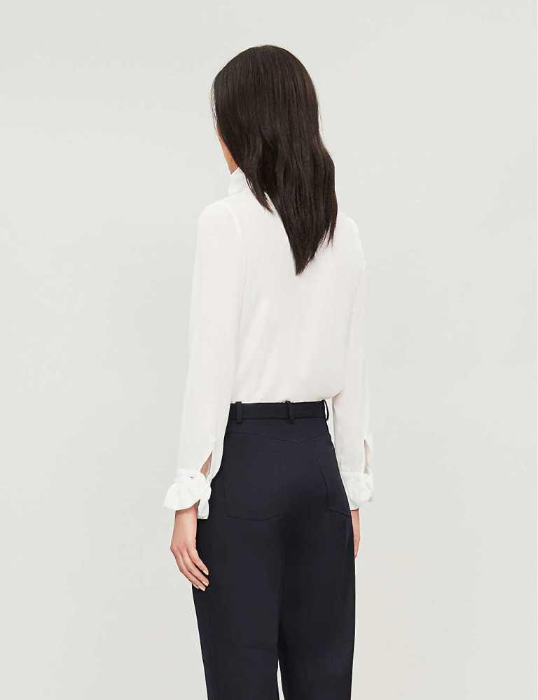 Claudie Pierlot Victorian Collar Loose Shirt back view