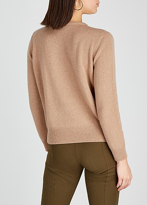 HADES Alphabet H Camel Wool Jumper back view