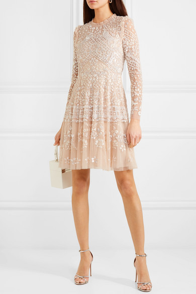 Needle & Thread - Aurora Ruffled Sequin-embellished Tulle Mini Dress