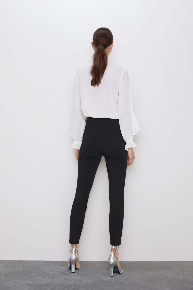 Zara Ruffled Blouse With Bow back view
