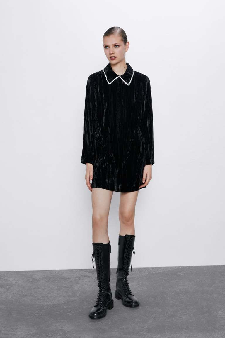 Zara Velvet Mini Dress