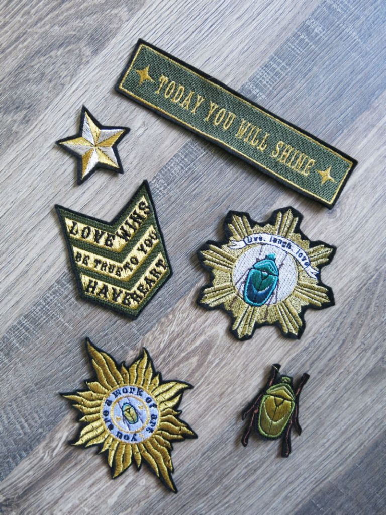 Denim & Bone Army Inspired Patches Set