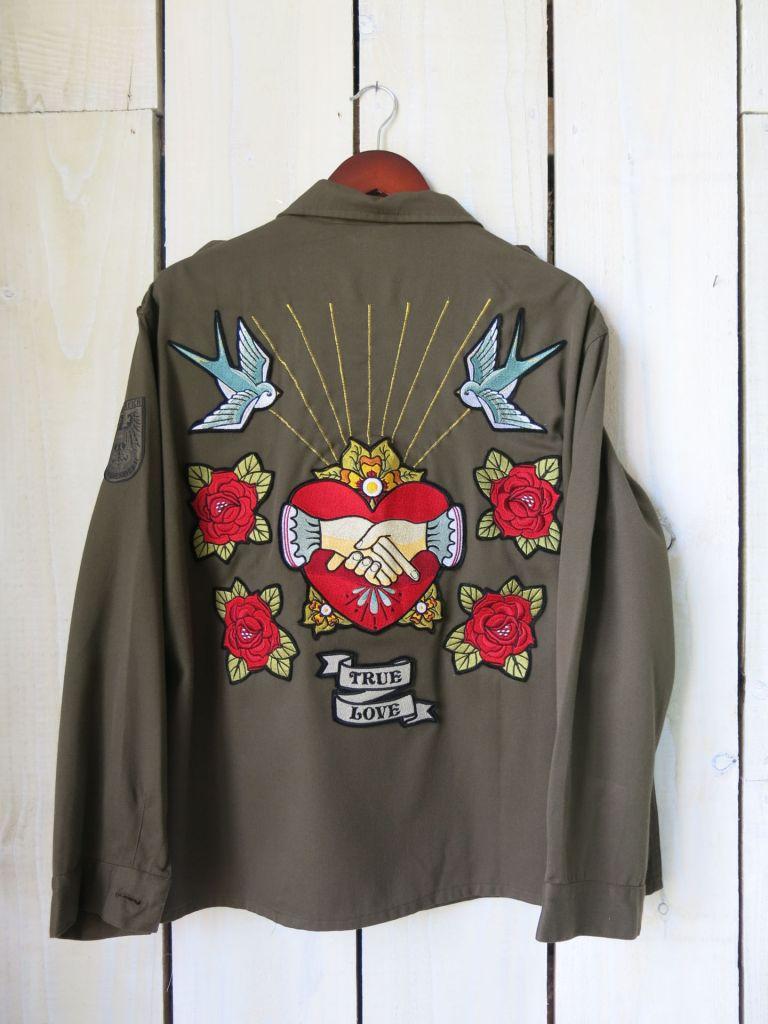 Denim & Bone Sacred Heart Army Jacket back view