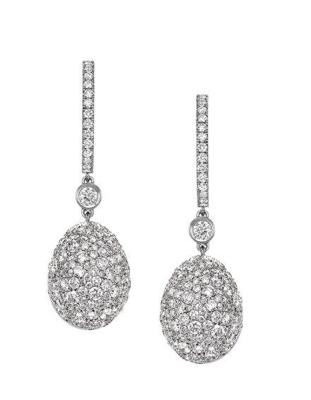 Faberge Emotion White Diamond Earrings
