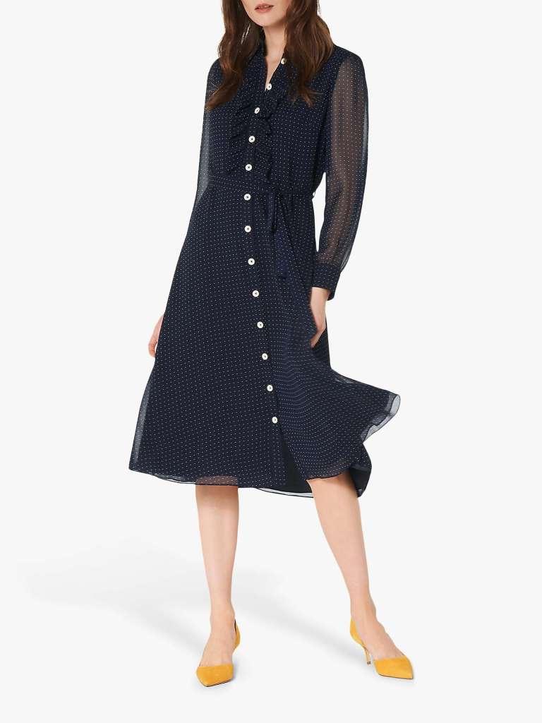 LK Bennett Ensor Polka Dot Shirt Dress