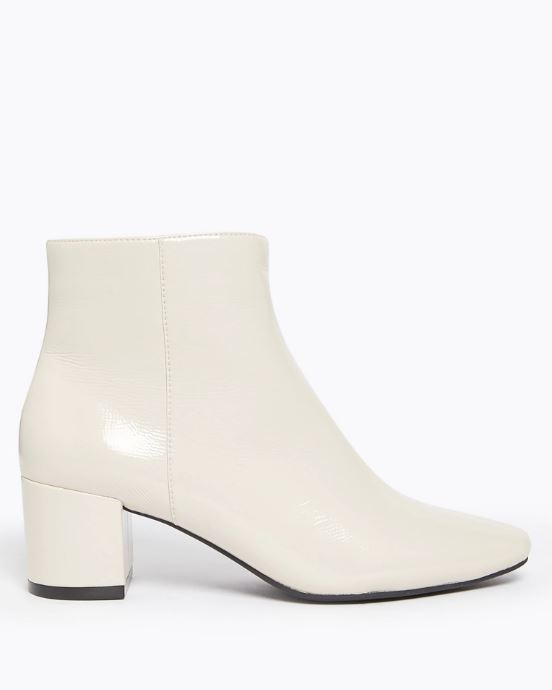 M&S Collection Marks and Spencer Block Heel Ankle Boots stone