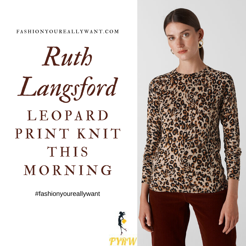 Where to get all Ruth Langsford This Morning outfits Leopard Print Knit January 2020