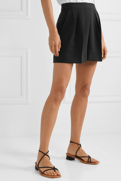 Theory Pleated Crepe Shorts