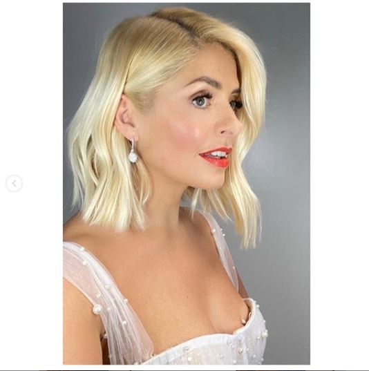 where to get holly Willoughby Dancing on Ice dress white tulle bodice with embellishments 19 January 2020 Photo Holly Willoughby v2